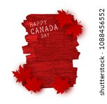 canada day design of red maple... | Shutterstock .eps vector #1088456552