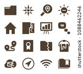 interface related set of 16... | Shutterstock .eps vector #1088462246
