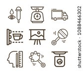 tool related set of 9 icons... | Shutterstock .eps vector #1088466302