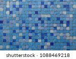 blue mosaic tiles. background... | Shutterstock . vector #1088469218