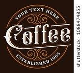 coffe logo design. vintage... | Shutterstock .eps vector #1088474855