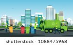 workers are working with... | Shutterstock .eps vector #1088475968