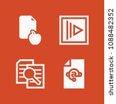 filled set of 4 document icons... | Shutterstock .eps vector #1088482352