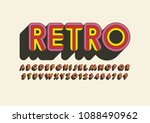 vector of stylized bold font...   Shutterstock .eps vector #1088490962