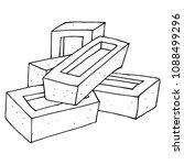vector illustration of a brick. ... | Shutterstock .eps vector #1088499296