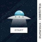 dark space vector illustration... | Shutterstock .eps vector #1088507816