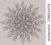 ornament beatiful flower. round ... | Shutterstock .eps vector #1088516528