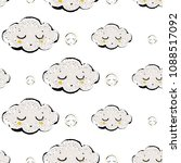 baby cute weather seamless...   Shutterstock .eps vector #1088517092
