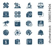 set of school icons. vector... | Shutterstock .eps vector #1088519606