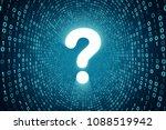 white question mark icon inside ... | Shutterstock . vector #1088519942