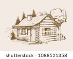 hand drawn vector illustration... | Shutterstock .eps vector #1088521358