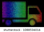 dot colorful halftone delivery...   Shutterstock .eps vector #1088536016