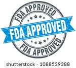 fda approved round grunge... | Shutterstock .eps vector #1088539388