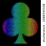 dotted bright halftone clubs... | Shutterstock .eps vector #1088540108