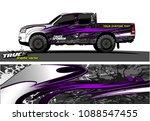 truck wrap design vector.... | Shutterstock .eps vector #1088547455