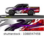truck wrap design vector.... | Shutterstock .eps vector #1088547458