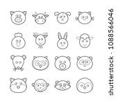 collection of vector line... | Shutterstock .eps vector #1088566046