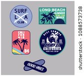 california summer patch vector. | Shutterstock .eps vector #1088573738