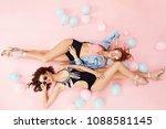 pool fashion in summer. women... | Shutterstock . vector #1088581145