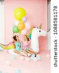 summer fashion girls having fun ... | Shutterstock . vector #1088581178
