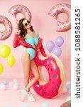 summer fashion. woman in... | Shutterstock . vector #1088581265