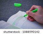 green highlight highlighter... | Shutterstock . vector #1088590142