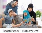 happy muslim family spending... | Shutterstock . vector #1088599295