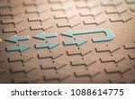 3d illustration of many arrows... | Shutterstock . vector #1088614775