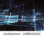 fractal art   computer 3d image ...   Shutterstock . vector #1088616362