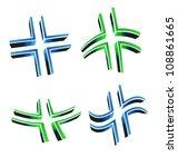 3d crosses | Shutterstock . vector #108861665