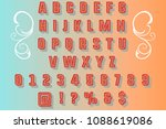 retro font handcrafted vector...   Shutterstock .eps vector #1088619086