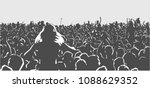 illustration of large crowd of... | Shutterstock .eps vector #1088629352