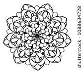 coloring book for adults and... | Shutterstock .eps vector #1088634728