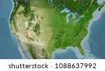 united states mainland area on... | Shutterstock . vector #1088637992