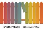 gap in the fence   colored... | Shutterstock .eps vector #1088638952