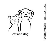 vector icon cat and dog. | Shutterstock .eps vector #1088653652