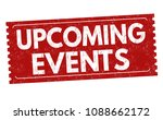 upcoming events grunge rubber... | Shutterstock .eps vector #1088662172