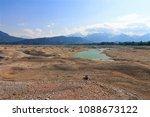 beautiful landscape in a dried... | Shutterstock . vector #1088673122