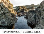 rocky seaside  breaker bay... | Shutterstock . vector #1088684366