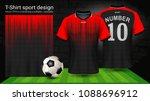 soccer jersey template  sport t ... | Shutterstock .eps vector #1088696912
