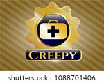 gold emblem or badge with... | Shutterstock .eps vector #1088701406