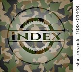 index written on a camouflage... | Shutterstock .eps vector #1088701448