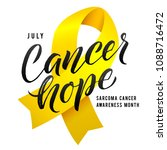 cancer hope. vector calligraphy ... | Shutterstock .eps vector #1088716472