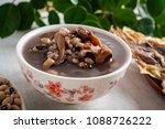 rice bean cuttlefish porridge   ... | Shutterstock . vector #1088726222