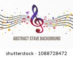 colorful music notes background | Shutterstock .eps vector #1088728472