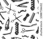 barbershop seamless pattern ...   Shutterstock .eps vector #1088736632