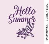 hello summer design | Shutterstock .eps vector #1088741102