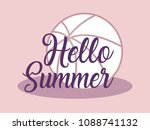 hello summer design | Shutterstock .eps vector #1088741132