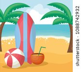 summer vacations design | Shutterstock .eps vector #1088742932