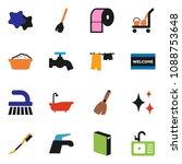solid vector ixon set   cleaner ... | Shutterstock .eps vector #1088753648